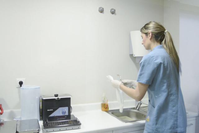 Laboratorio - Sala de esterilización