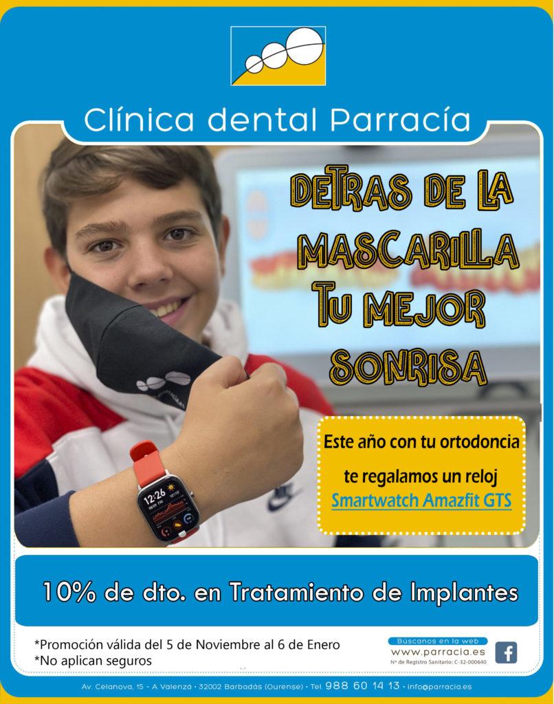 Promoción noviembre y diciembre 2020 - Smart watch con ortodoncia